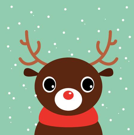Beautiful cute xmas deer Illustration