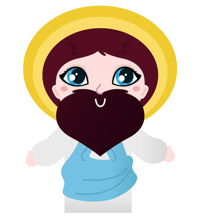 Jesus cartoon Illustration Vector