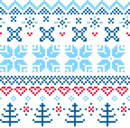Norway pattern - blue and red Illustration Vector