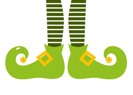 Retro elvish green legs with stripes Vector