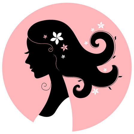 Romance girl shape for wedding or valentine design