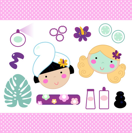 hair mask: Beauty and spa design elements collection