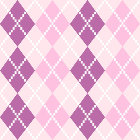 Argyle pattern in purple shades  Vector background Vector