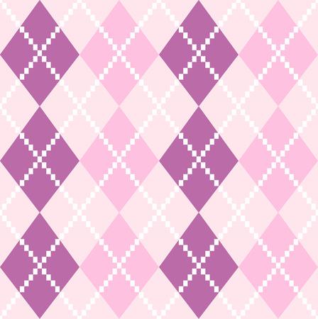 Argyle pattern in purple shades  Vector background
