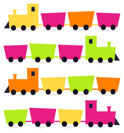Cute colorful vehicles set  Vector cartoon Illustration Vector