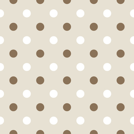 Dotted pattern or background with brown and white dots  Vector