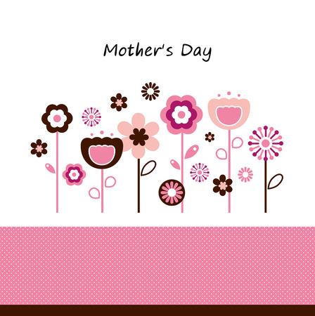Roze bloemen voor Moederdag Stock Illustratie