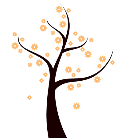 Beautiful Spring blossom Tree  Vector