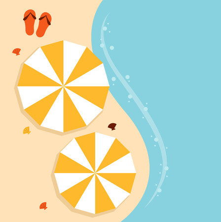 Summer beach background with sea and sand  Vector Illustration Vector