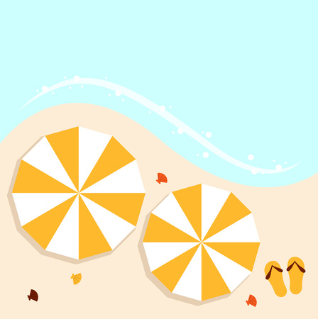 Summer beach background with sea and sand  Vector  Vector