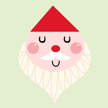 st nick: Adorable christmas Santa isolated on white. Vector cartoon illustration Illustration
