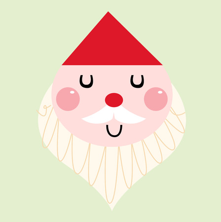 Adorable christmas Santa isolated on white. Vector cartoon illustration Illustration