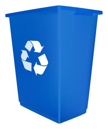 poubelle bleue: Corbeille