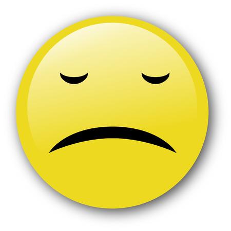 displeased: unhappy emoticon. Illustration