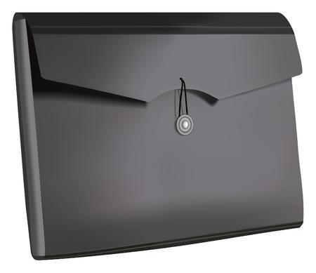 image of black plastic document folder Stock Vector - 7052141
