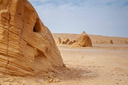 Beautiful view of rock formation in Sahara Desert, Tunisia