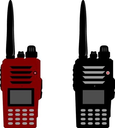 Walkie talkie or police radio and radio communication