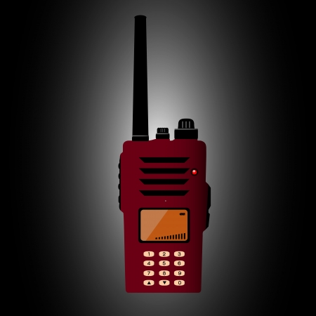 walkie talkie: Walkie talkie Illustration