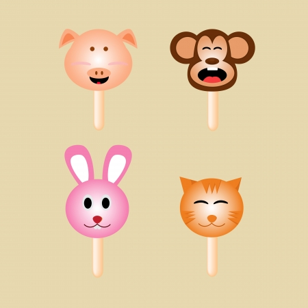 Animals ice cream Vector