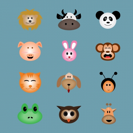 Animal face icon vector Illustration
