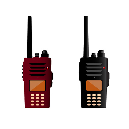 walkie: Walkie talkie and police radio or radio communication