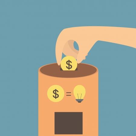 Idea vending machine Illustration