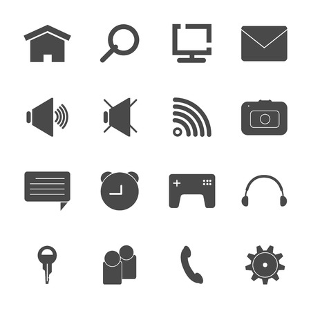mobile icon set vector eps10