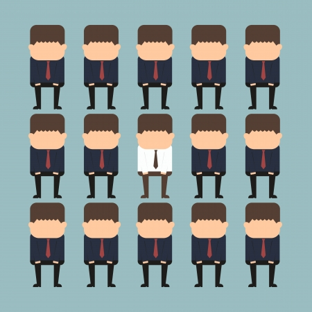 individuality concept of a person standing out from the crowd