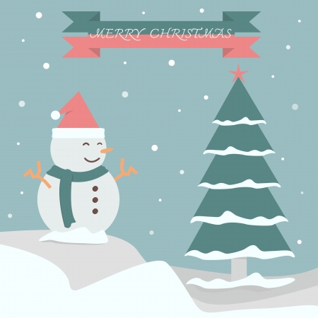 Merry Christmas background vector for make banner Vector