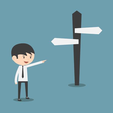 choose a path: Businessman choose a choice