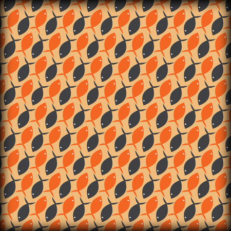 fish pattern abstract background Vector