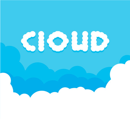 clouds in the sky, abstract vector background Vector