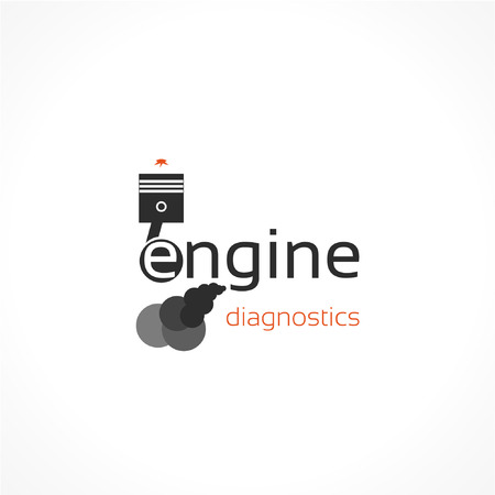 compression  ring: engine vector icon Illustration