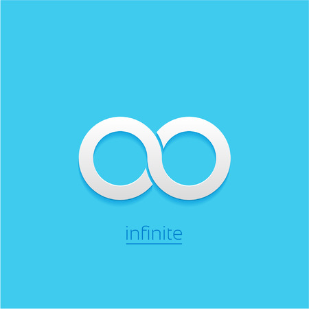 Limitless sign icon. Infinity symbol Isolated on blue background