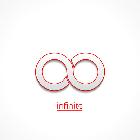 eternally: Limitless sign icon. Infinity symbol Isolated on white background