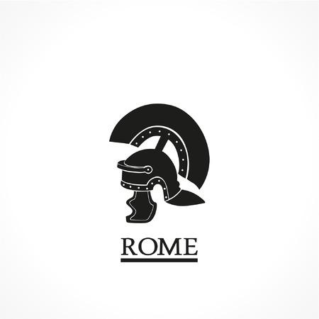 siluette: Rome helmet-vector icon