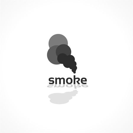 toxic cloud: smoke vector icon, abstract background design