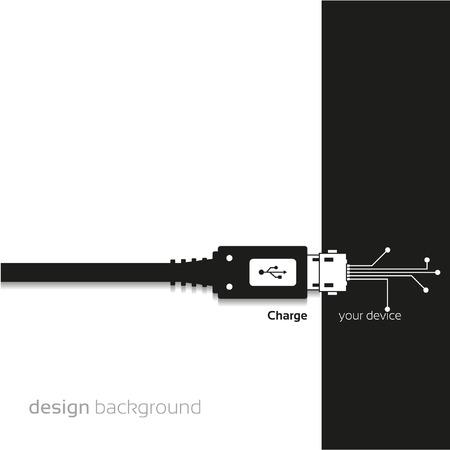 Charge, Concept background design Illustration