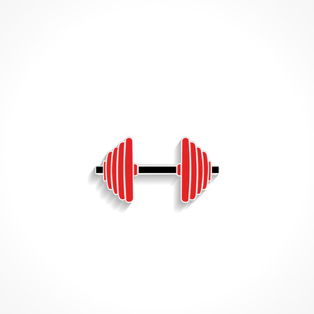 exercise equipment: Fitness exercise equipment dumbbell weights on white background vector icon Illustration