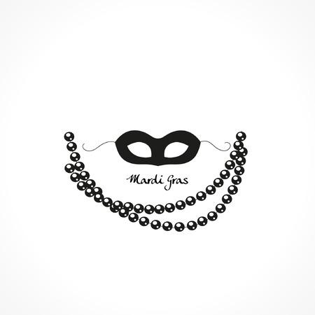 Mardi Gras carnival mask vector icon