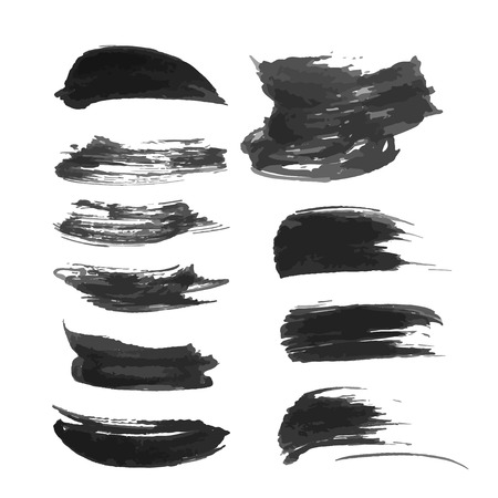 density: Abstract realistic black strokes of different density 1 Illustration