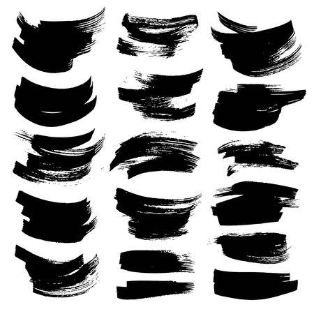 Abstract black strokes on white backckground Ilustração