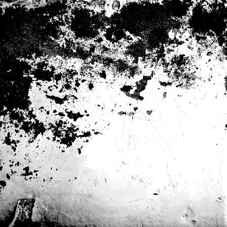 Vector black and white grunge background Ilustração