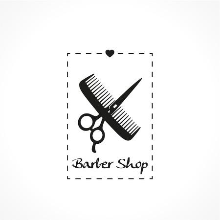 haircutting: Hair Salon design (haircut or hair salon symbol)