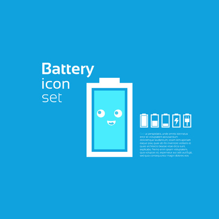 Battery concept background design layout for poster flyer cover brochure