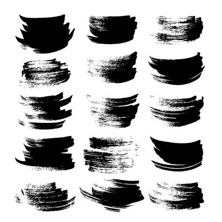 Black textured strokes set on white backgriund