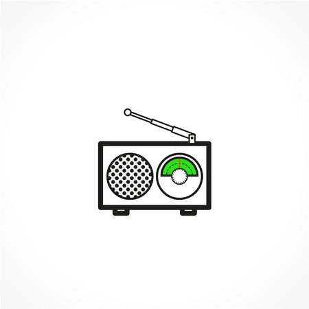 Radio linear vector icon