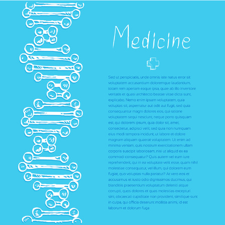 Blue Medical doodle vector background for poster flyer cover banner brochure