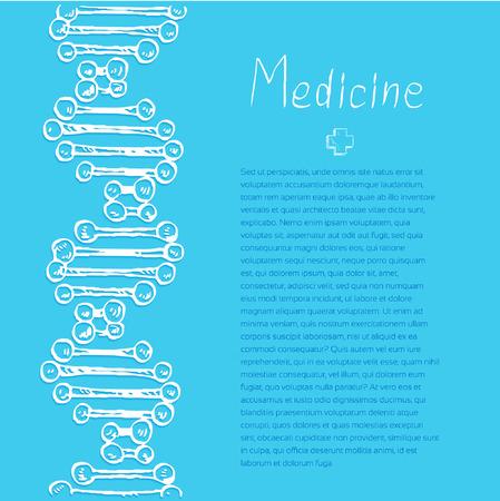 conduction: Blue Medical doodle vector background for poster flyer cover banner brochure