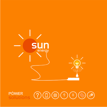 power concept background design of photovoltaic solar system layout for poster flyer cover brochure